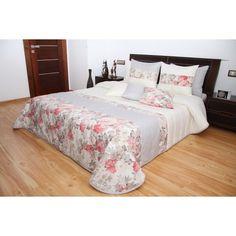 Prehoz na posteľ krémovej farby s ružami Bed, Furniture, Home Decor, Decoration Home, Stream Bed, Room Decor, Home Furnishings, Beds, Home Interior Design