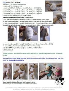 Ovečka | Návody na háčkované hračky Crochet For Kids, Crochet Toys, Free Crochet, Amigurumi Patterns, Free Pattern, Diy And Crafts, Kids Room, Sewing, Knitting