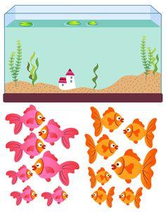 Играем до школы: Дидактический материал Рыбки и аквариум