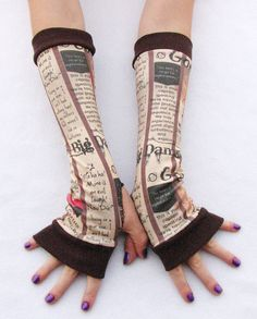 Firefly  Fingerless Gloves Serenity Arm Warmers by Steampunkwolf, $27.00