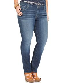 Lucky Brand Plus Size Ginger Straight Leg Jeans Boggy Head Wash