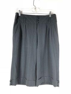 1d569ad8ce White House Black Market Women's Wide Leg Crop Pants siz 6 Skirt Pant  Striped 20 #WhiteHouseBlackMarket #Wide