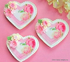 Wafer Paper Heart Cookies
