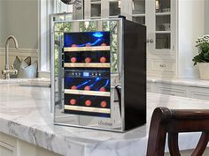 12-Bottle Dual-Zone Thermoelectric Mirrored Wine Cooler – Donachelli's Cellars