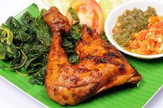 Pecel Chicken is Traditional indonesia foods