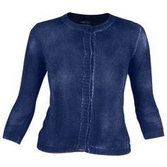 Avant Toi Sweaters ($290) ❤ liked on Polyvore featuring tops, sweaters, indigo, blue top, blue sweater and avant toi