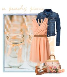 a peachy picnic... by raychill3 on Polyvore featuring polyvore, fashion, style, VILA, Aéropostale, Schutz, Tory Burch, Forever 21, Dorothy Perkins and clothing
