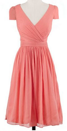 Beautiful #bridesmaid dress in #coral http://rstyle.me/~1M2Sn