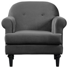 Buy Argos Home Whitney Velvet Armchair - Charcoal at Argos. Thousands of products for same day delivery or fast store collection. Green Armchair, Velvet Armchair, New Number, Free Fabric Swatches, Tub Chair, Charcoal, Plush, New Homes, Cushions