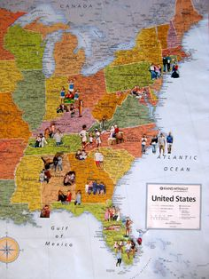 Here's a fun project or tradition, especially for kids...put your pics on a map for the places you've come from...or have gone.