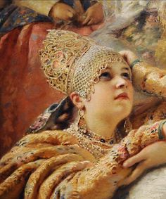the russian bride's attire, konstantin makovsky