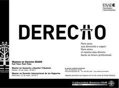 ESADE. Másters Facultades. Derecho. / Road Publicitat