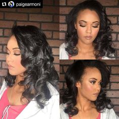 Style from @paigearmoni of Newport News,Virginia #Repost @paigearmoni ・・・ PROM Hair & Makeup by #PaigeArmoni only at #Tresses DM email or contact number in bio to book appt! #Tresses757 #benicegetcoin #newportnewsstylist Hair Salon Finder www.afrohair.com