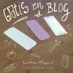 Listas de la compra para descargar gratis  www.cristinamayoral.wordpress.com  #free #imprimible #printable #freebies #CristinaMayoral #ilustracion #ilustradora