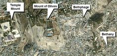 Overhead map of Bethany in relation to Jerusalem, Israel. Description from pinterest.com. I searched for this on bing.com/images