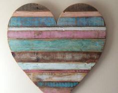 Rustic reclaimed wood heart large wood heart beach by AlmaBoheme & Rustic Reclaimed 27