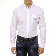 Ufford & Suffolk Polo Club Mens Shirt USC03 C1 BIANCO