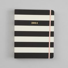 kate spade new york 2014 17 Month Agenda, Black and White Stripe | Bloomingdale's