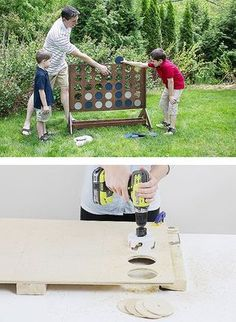 Build your own backyard game with these step-by-step instructions. It's an over-sized, outdoor version of Four-in-a-Row-- guaranteed family fun!