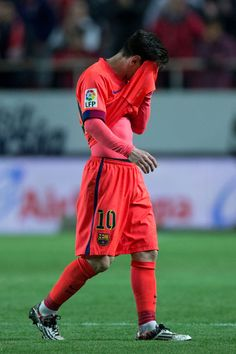 Lionel Messi Photos - Lionel Messi of FC Barcelona reacts after the La Liga match between Sevilla FC and FC Barcelona at Estadio Ramon Sanchez Pizjuan on April 2015 in Seville, Spain. - Sevilla FC v FC Barcelona - La Liga Barca Flag, Fc Barcelona, Messi 2015, Breakin Bad, Band Posters, Music Posters, Grateful Dead Music, Messi Photos, Captain Tsubasa