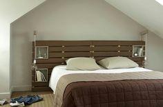 Tete de lit en palettes de bois