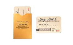Library Inspired Business Cards