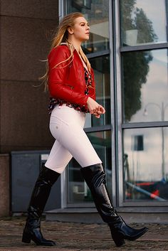 Juni ... dynamic walk | editorial fashion shoot for STREETFA… | Flickr Thigh High Boots Heels, Leather High Heels, Latex Boots, Sweet Jeans, Rainy Day Fashion, Equestrian Outfits, Equestrian Fashion, Pretty Lingerie, Sexy Boots