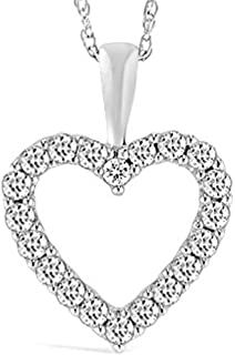 1/2-3 Carat White Gold Classic Heart Diamond Pendant Necklace for Women Value Collection #necklacependantgold #pendantdiy #pendantjewelry #pendantnecklacediy #pendantnecklacediamond #necklacependantdiamond #pendantwhitegold #pendantnecklace #diyjewelrypendant #beadnecklace #pendant #necklace #jewelrypendants #necklacependantdiy #necklacependantsilver #necklacependantunique #pendantnecklaceunique #simplependantnecklace #diypendantnecklace #diynecklacependant #diamondpendants 3 Carat, Diamond Pendant Necklace, White Gold, Rose Gold, Pendants, Collection, Classic, Stuff To Buy, Jewelry