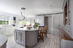 Wrights Design House are one of Irelands leading kitchen companies. Supplying contemporary and classic kitchens to markets in Lisburn, Belfast and throughout Ireland. Purbeck Stone, Grey Houses, Entrance Doors, Kitchen Paint, Belfast, Kitchen Styling, Kitchen Island, House Design, Contemporary