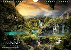 Zwielicht - Fantasylandschaften Wandkalender 2020 DIN A4 quer: Amazon.de: Simone Wunderlich: Bücher Poster Online, Mystery, Waterfall, Digital Art, River, Landscape, Outdoor, Fairy Land, Photomontage