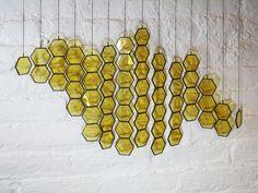 Vitrail en nid d'abeille gouttes lot de 14 par BespokeGlassTile