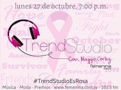 Es el último lunes de octubre y seguimos apoyando el mes de la lucha contra el cáncer de seno de la forma más #Trendy! Escucha a Maggie Cortez por Radio Femenina 102.5 esta noche a las 7:00 p.m. y recuerda: #TrendStudioEsRosa!
