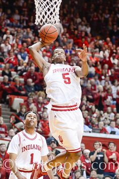 Troy Williams (5)  at Indiana vs. Rutgers  -- #IUCollegeBasketball