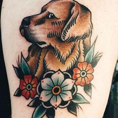 golden retriever tattoo - Google Search