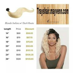 """LOOK HOW MUCH YOU SAVE!!! Order your Brazilian, Malaysian, Peruvian and Indian (blonde only for the Indian)  hair at https://Trayshair.mayvenn.com Look how much you can save when you enter coupon code """"MLKDAY"""" for 15% off! Plus take an extra 10% off with our bundle deals of 3!!! Total of 25% off!!!"""