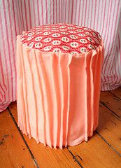 stool made from a 5 gallon bucket.