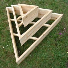 pyramid raised flower bed