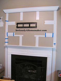 Whether your TV is hung over the fireplace, on a wall or on a table, the cords look bad. Angie is here to share how to hide cords in the trim work. Hide Tv Cords, Hiding Cords, Hide Cables, Tv Above Fireplace, Fireplace Mantle, Fireplace Ideas, Simple Fireplace, Fireplace Update, Fireplace Kitchen