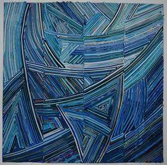 Kit Vincent Textile Art | Tricolor.  Nan says: Incredibly fine work.