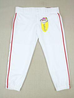 Easton Womens Baseball Pants White Pipe Color Red Bio-Dri Size M - Fast  Shipping 16ae31c49f