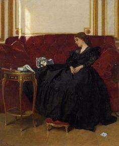 """""""La veuve"""" by Alfred Stevens (1823-1906)."""