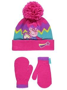 Peppa Pig hat /& glove Set Pink One Size Peppa Pig Boys Girls Set
