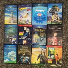 The collection  grows xD added castle in the sky on dvd (since I already have it on vhs) to the collection   #studioghibli #hayaomiyazaki #miyazaki #movies #dvds #vhs #myageisshowing #castleinthesky #howlsmovingcastle #whisperoftheheart #nausicaa #ponyo #talesfromearthsea #myneighbortotoro #kikisdeliveryservice #spiritedaway #princessmononoke #thecatreturns #thewindrises by brogan_babycakes