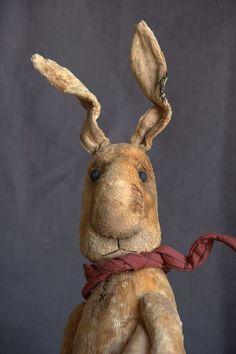 Vintage Teddy Bunny toy / Мишки Тедди ручной работы. Большой Плюшевый Заяц. 7cvetik70. Ярмарка Мастеров. Заяц тедди, синтепух