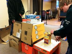 LIBRARY AS MAKERSPACE - watch the process http://librarymakerspace.blogspot.com/  Cardboard has so many creative uses!