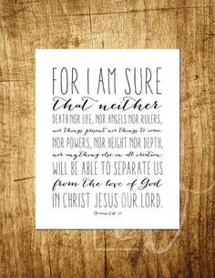 Romans 8:38-39 Nothing Can Separate 8x10 by OhMySoulDesign
