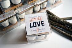 Smores Party Favor Kits, S'more Love Wedding Favors, S'mores Gift Tags, Sending you S'more Love Label, Wedding Favors, Rustic Wedding, DIY