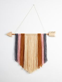15 Arrow Yarn Wall Hanging Decor by theseamdesigns on Etsy