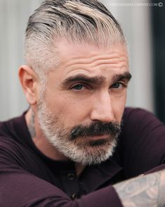 Likes, 29 Comments - Daniel Sheehan (Sheehan and Company - Menswear) on In. Older Mens Hairstyles, Casual Hairstyles, Haircuts For Men, Cool Hairstyles, Men's Hairstyle, Silver Foxes, Silver Man, Moustache, Daniel Sheehan