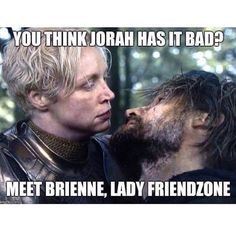 """At least Daenerys is just into another dude, Jaime is into his own sister!  #gameofthrones #got #hbo #brienneoftarth #jaimelannister #jorahmormont"""